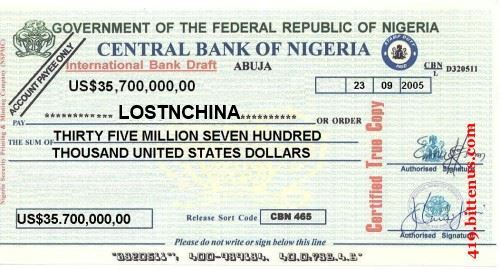 central bank of nigeria CHECK